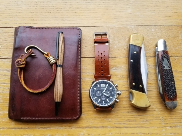Wood Leather and Steel