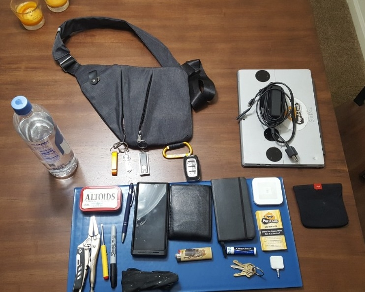 Faleto EDC Bag and Contents