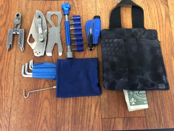 Titanium Kubaton Bolt Action Outdoor EDC Pocket emergency survival escape tool