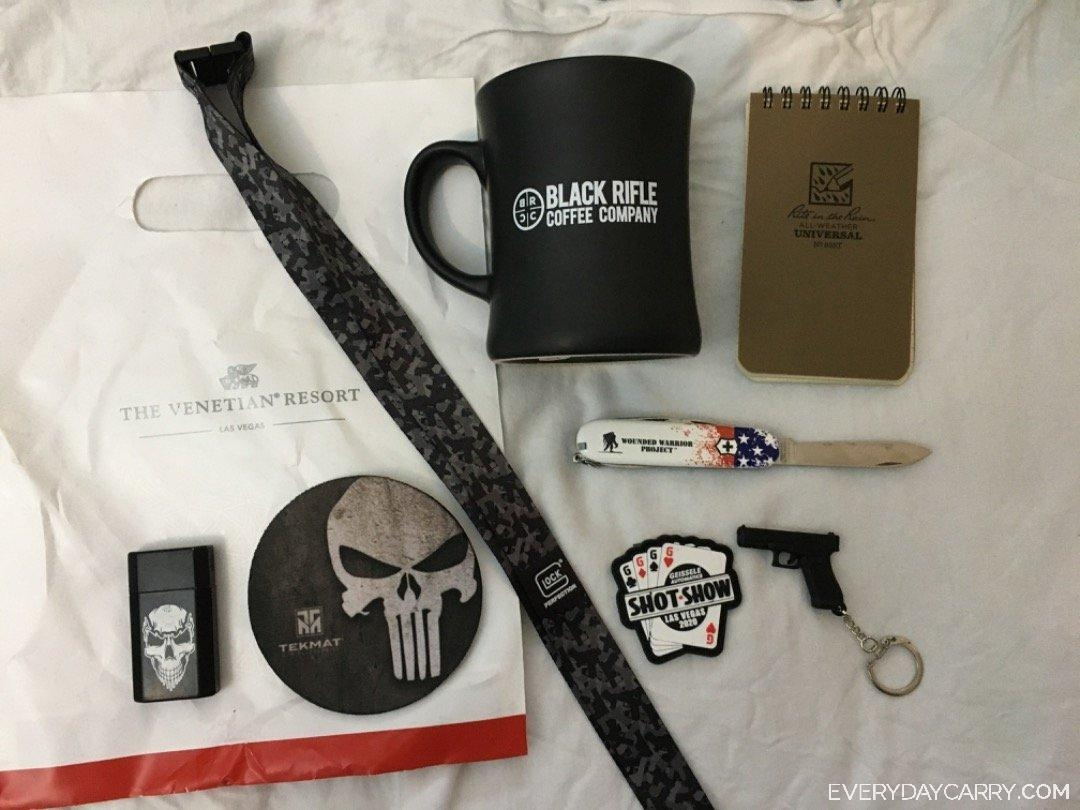Everyday Carry 39 M Kansas Sales Shot Show 2020 Swag Edc