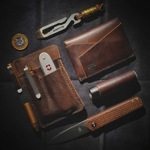 Current EDC with Custom Leather Goods