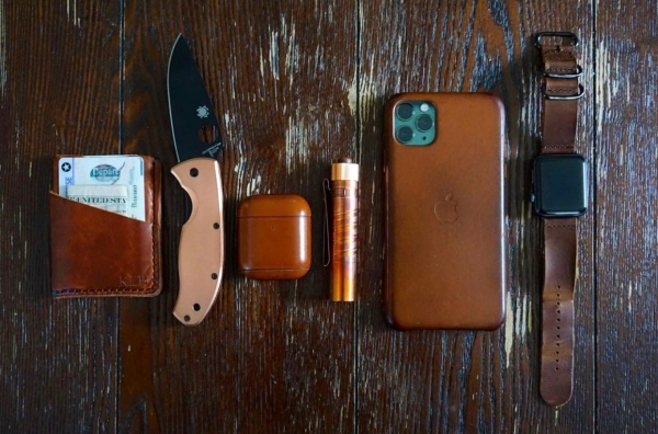 Copper/Leather EDC