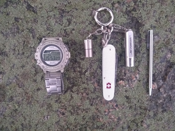 My stainless steel keychain EDC kit