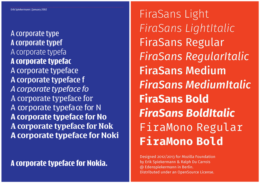 Corporate typefaces designed by Spiekermann via spiekerblog