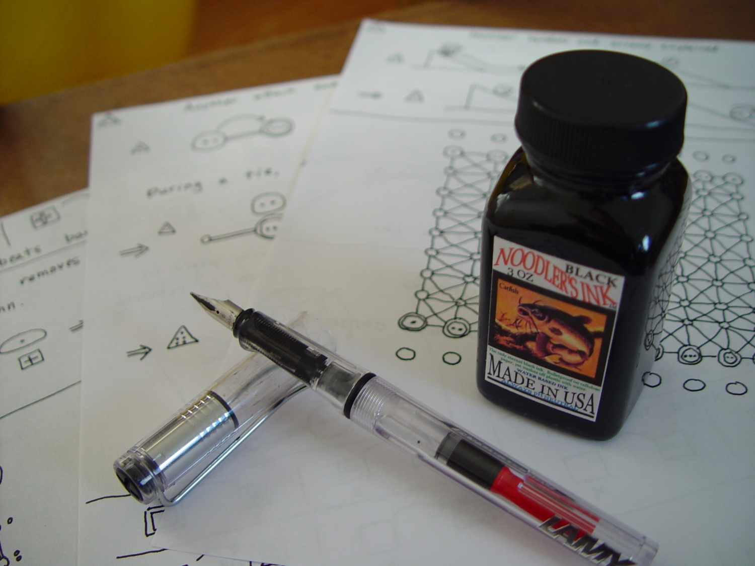 Game designing with the Lamy Vista and Noodler Ink