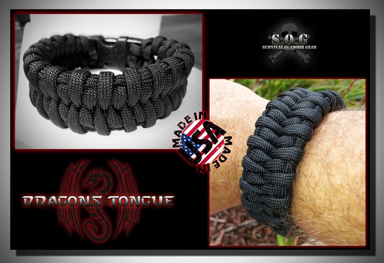 Dragons Tongue Paracord survival bracelet
