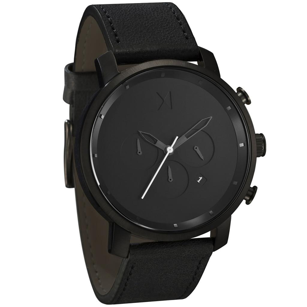MVMT Chrono Black Leather