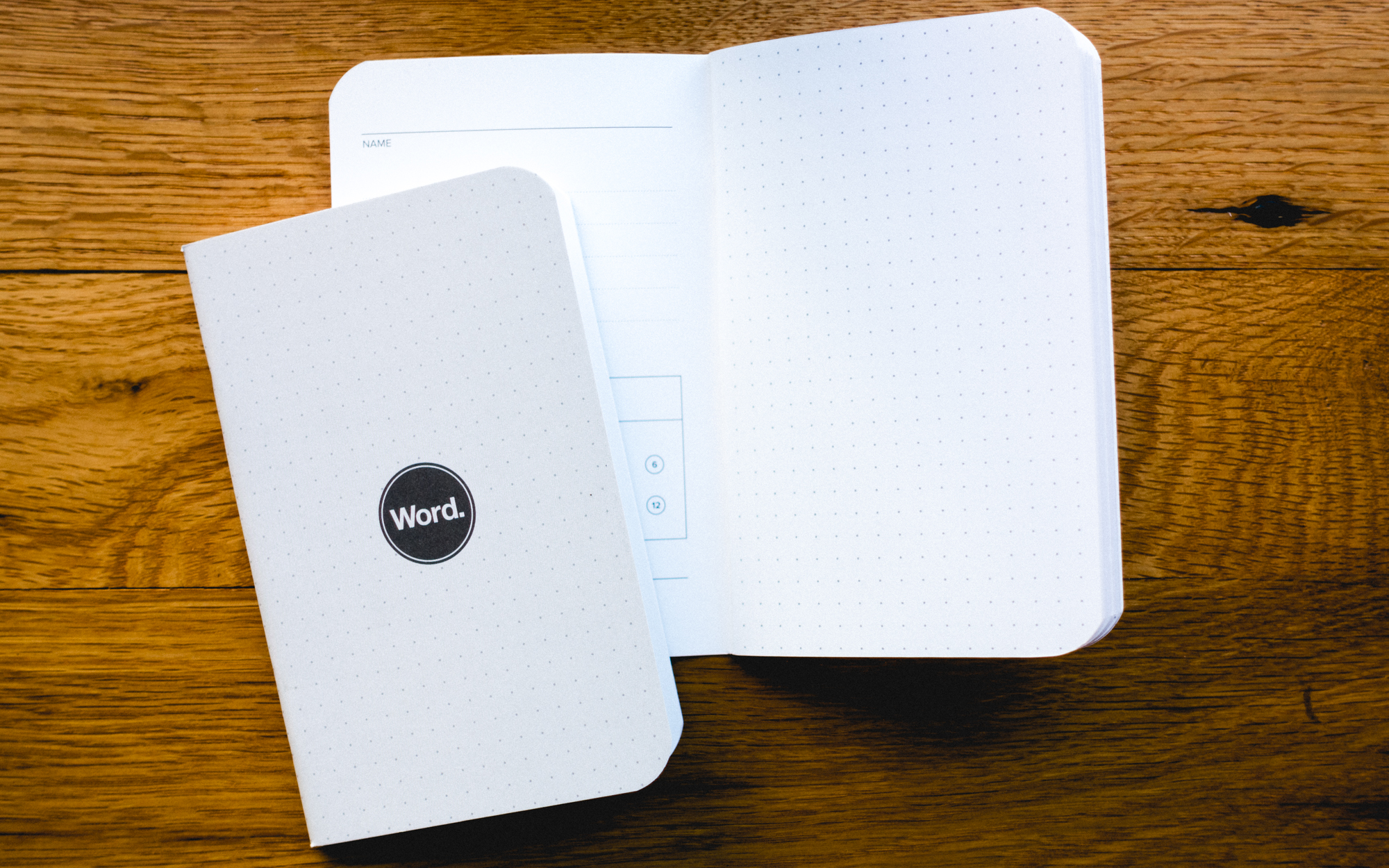 Word. Dot Grid Notebooks