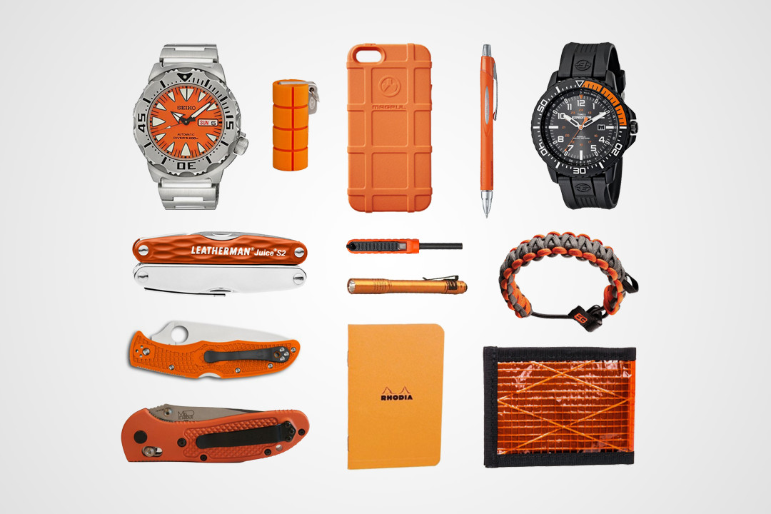 13 Hi-Vis Orange EDC Essentials