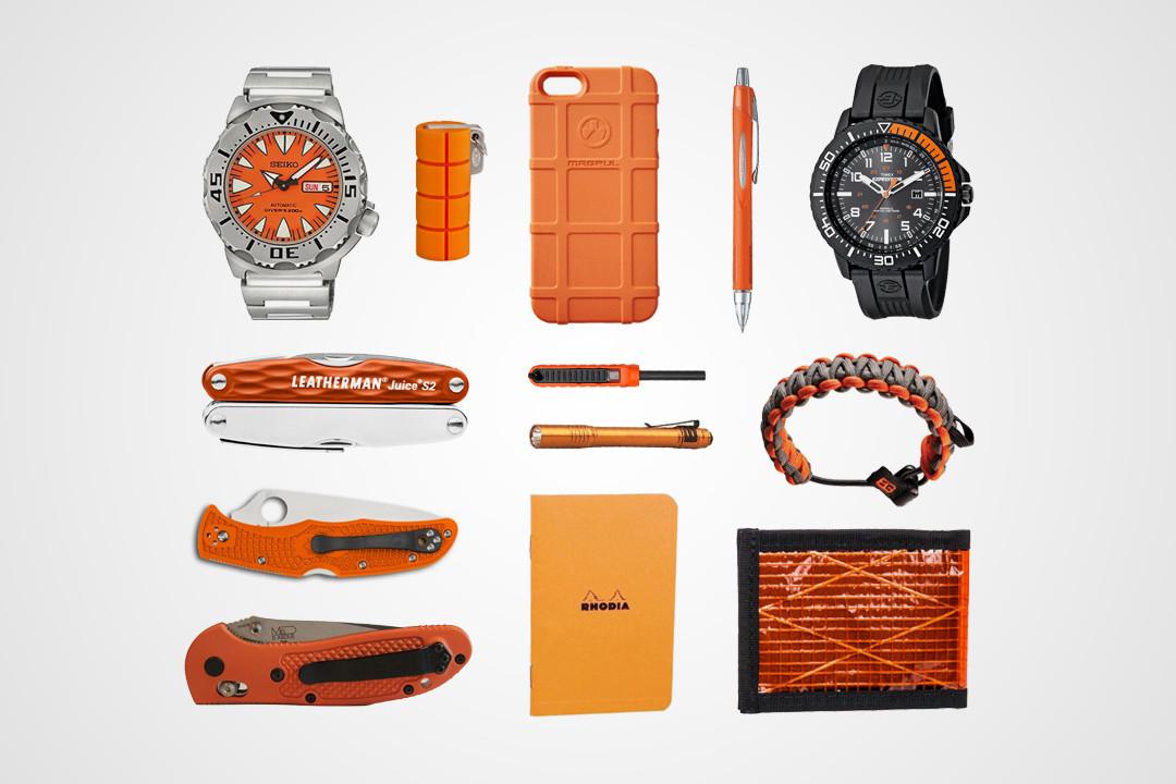 13 Hi-Vis Orange EDC Essentials