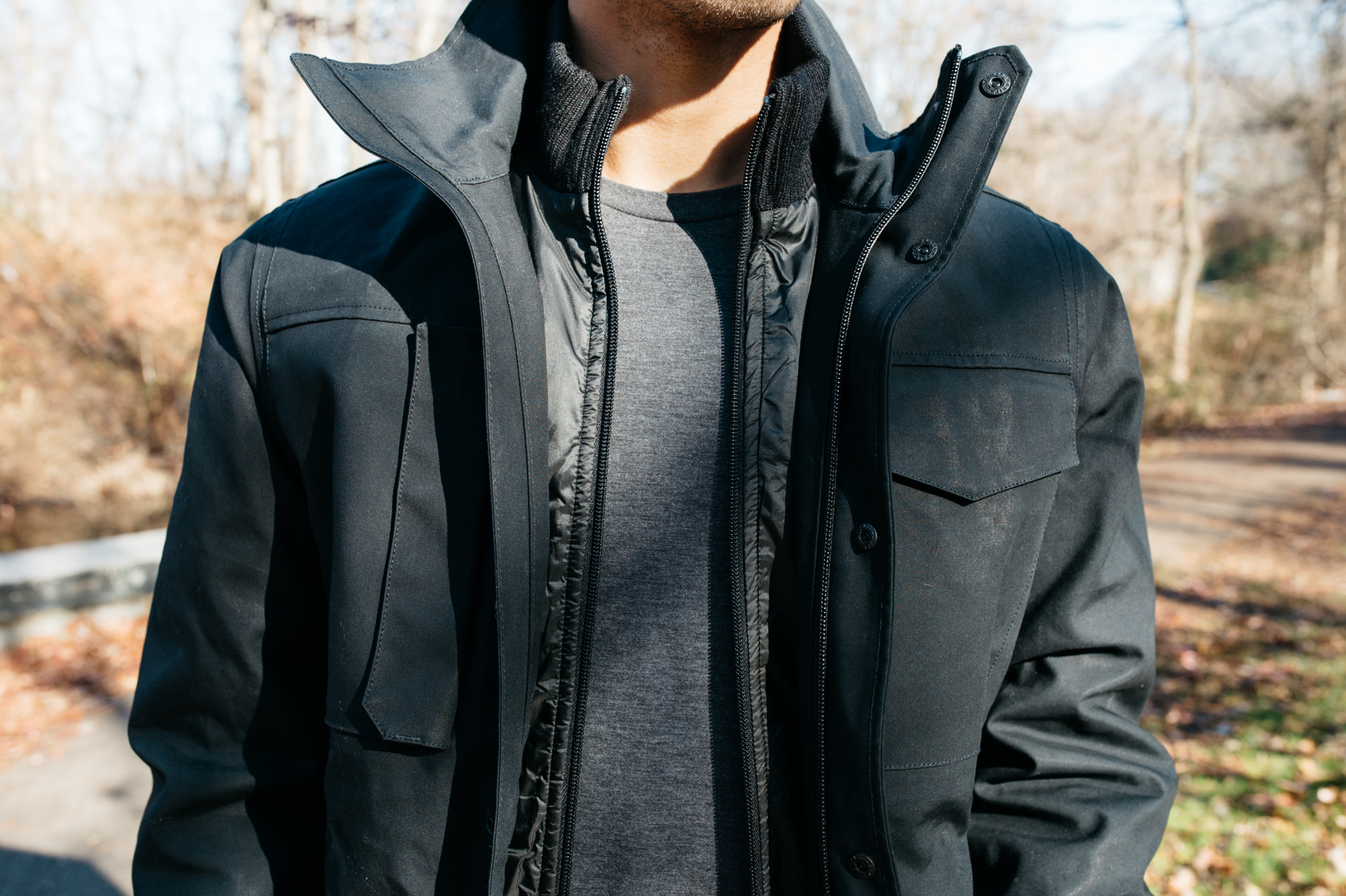 Victorinox Torrenthorn layered with the Charmotane Hooded Jacket