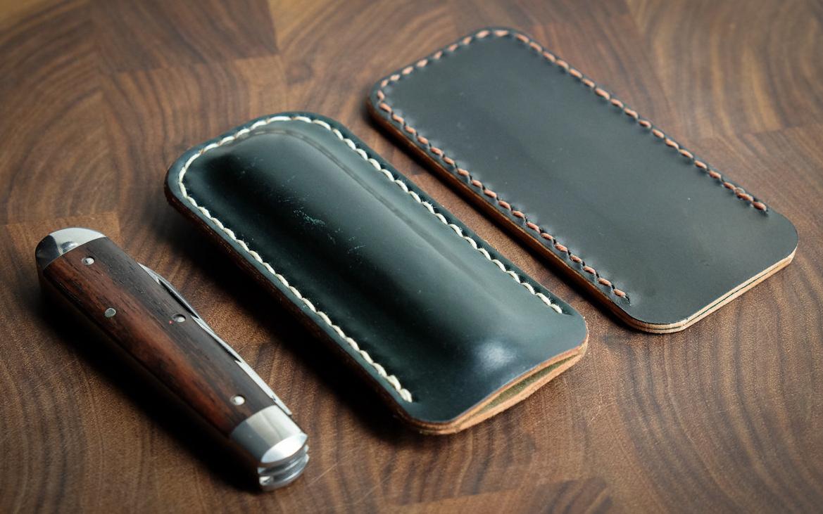 One Star Leather Goods Pocketknife Case