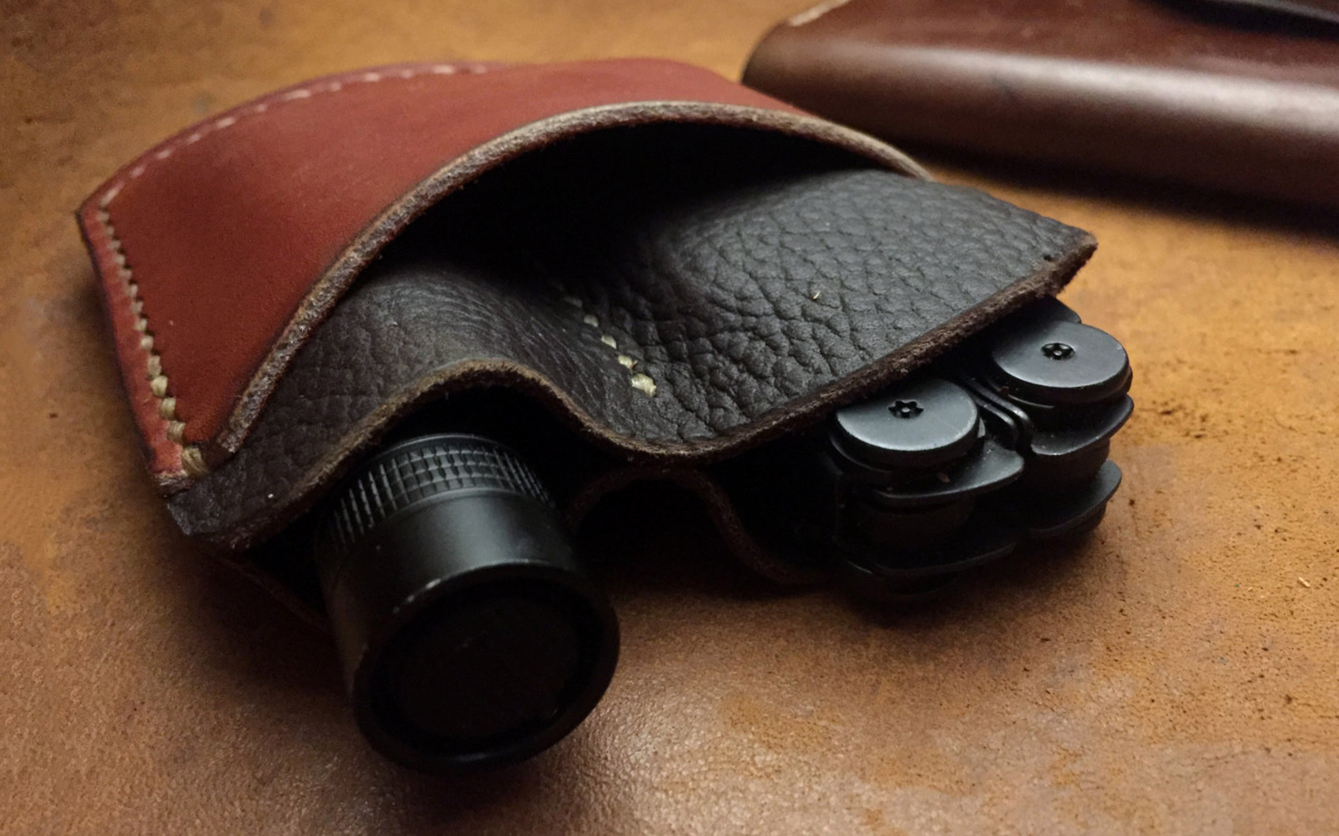 Leather Sheath EDC Pocket Organizer