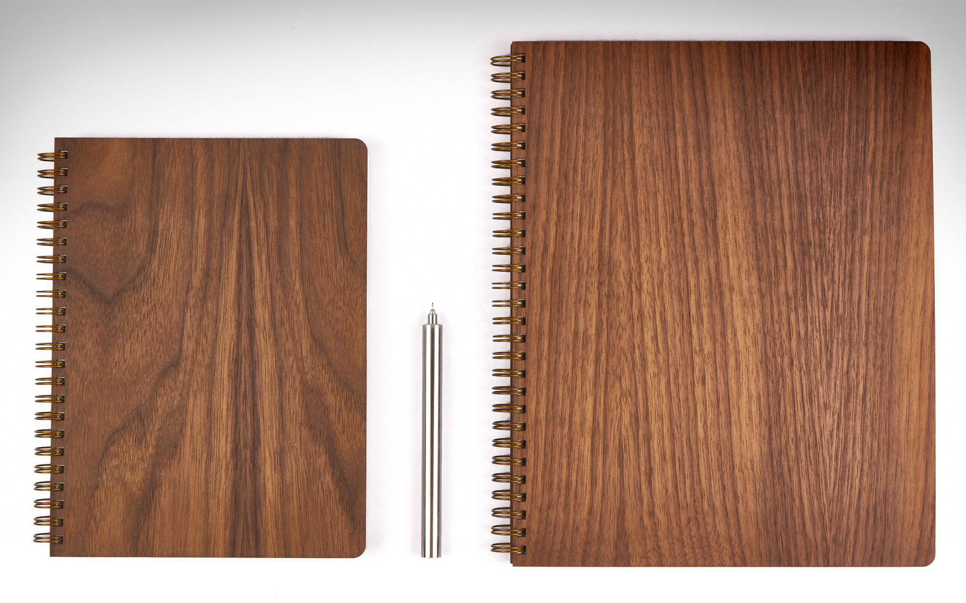 Pacific & West Walnut & Brass Notebooks