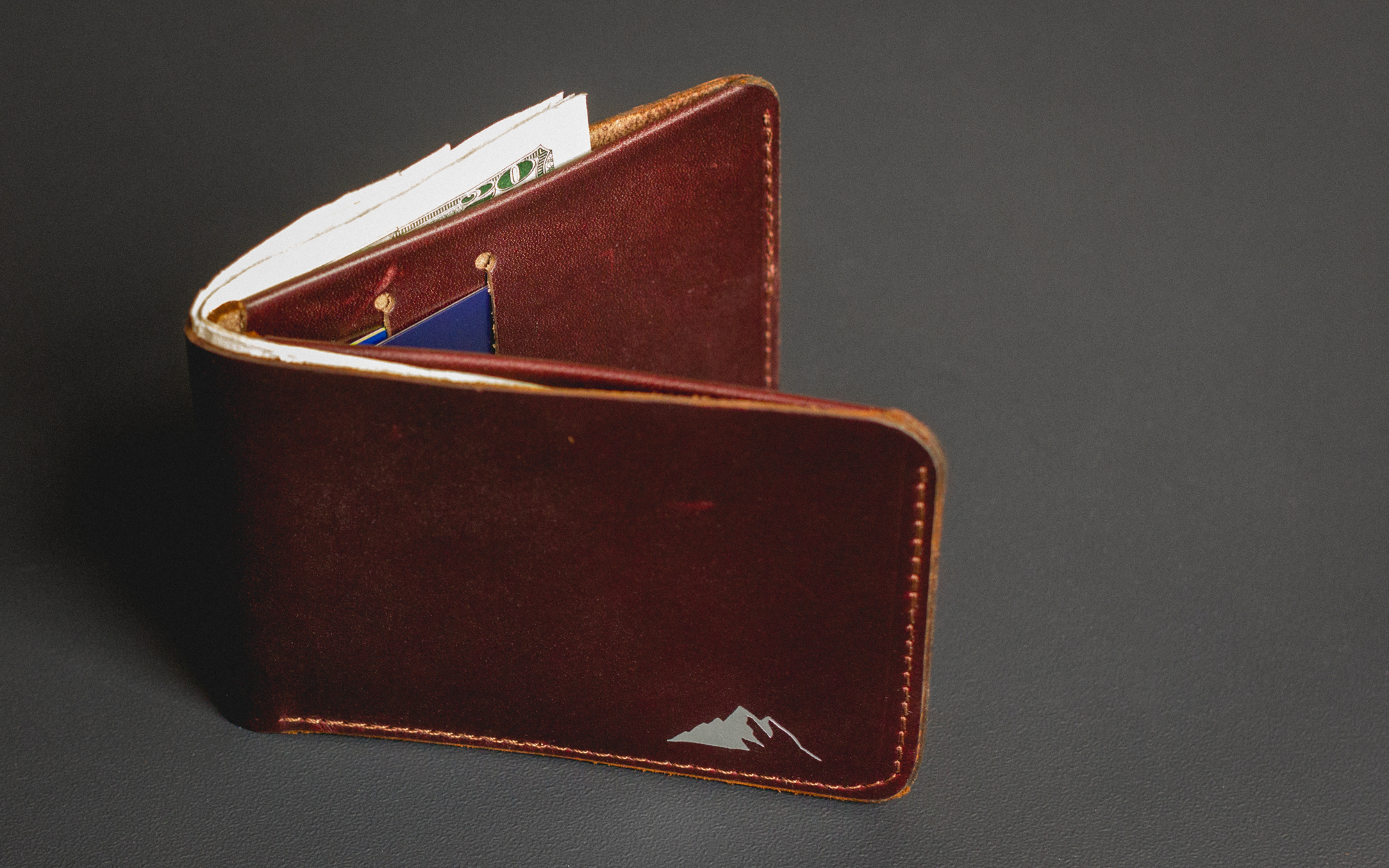 Rugged Material Leather Bifold Wallet
