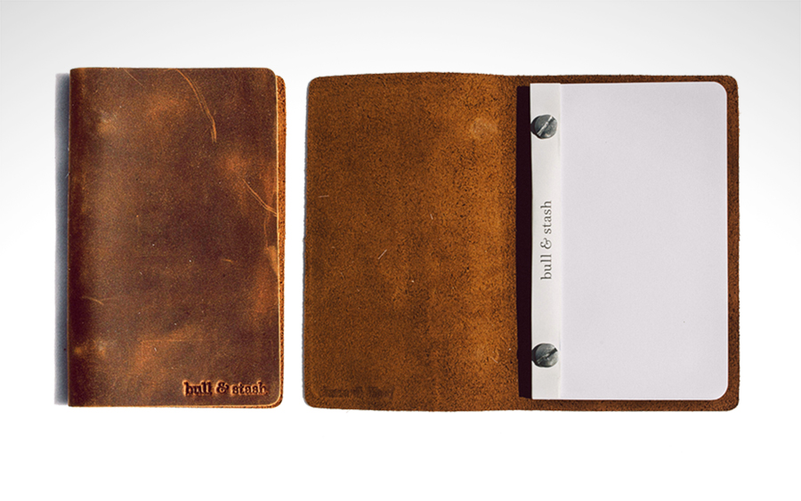 Travel Stash Leather Notebook by Bull & Stash
