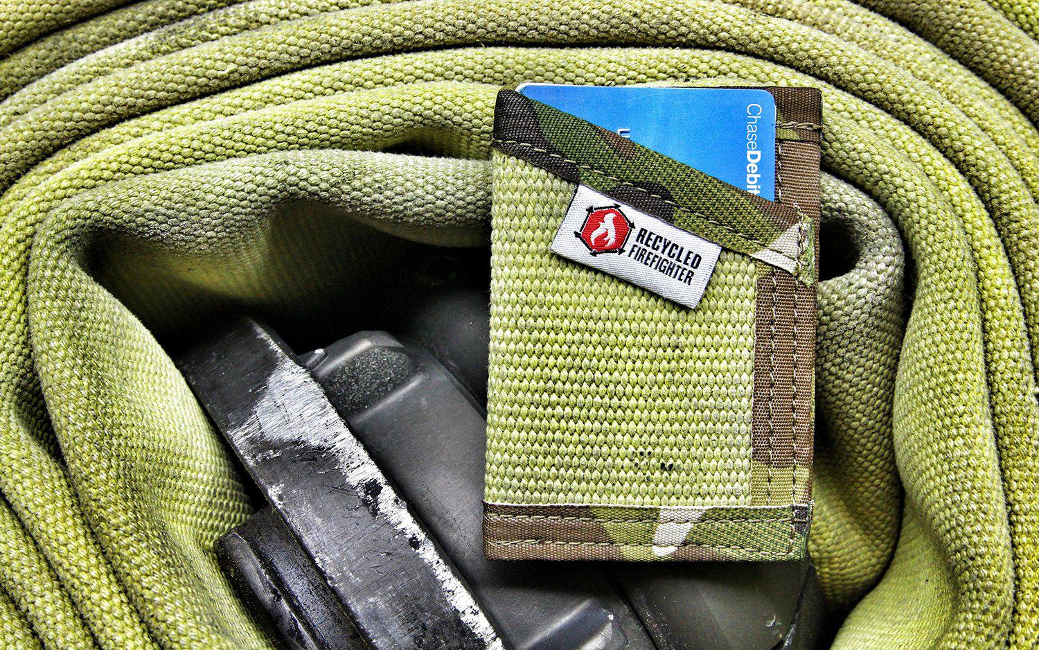 Recycled Firefighter Sergeant Wallet