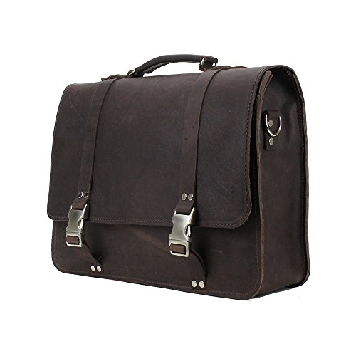 Leather Messenger Bag Vintage Laptop Briefcase Made In