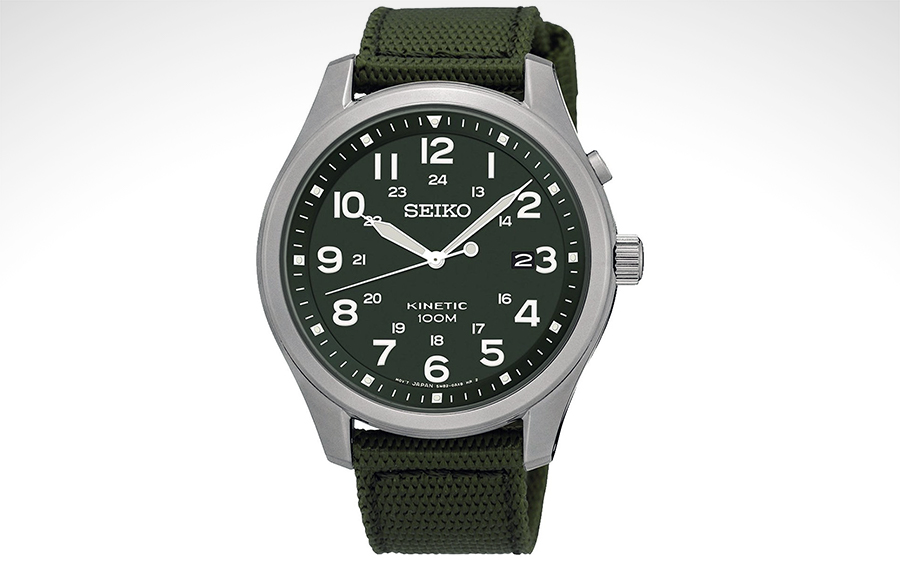 Seiko SKA725P1 Kinetic Military Watch