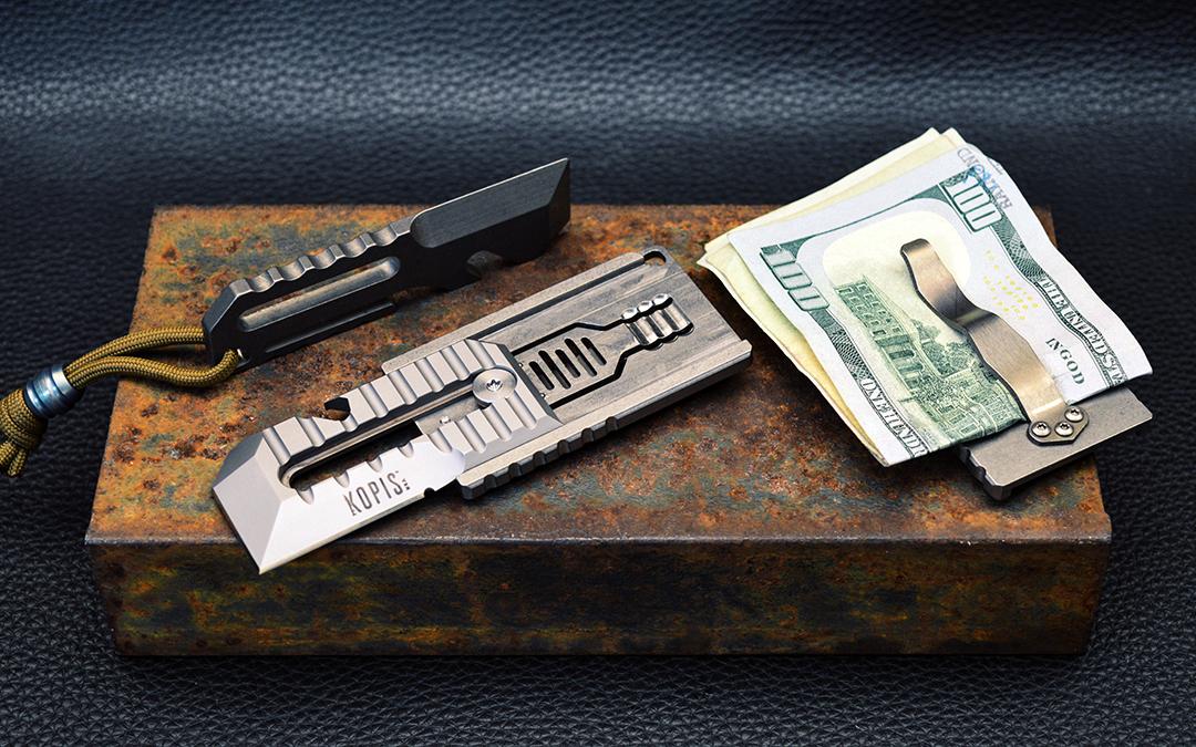 The STK (Sliding Tool & Knife) and Rift Multi-tools