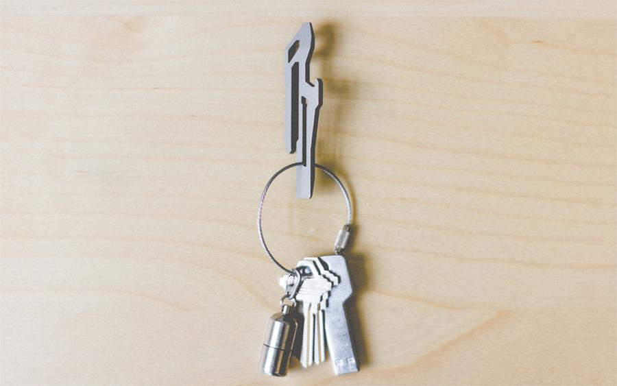 Edelstahl EDC-Multi funktionswerkzeug Guertel Keychain Clip Flaschenoeffner Z1Q2