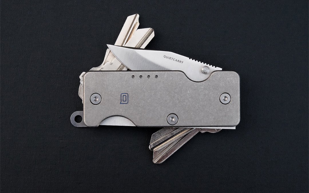 QuietCarry Mini Q 2.0 and Shorty Titanium Key Organizers