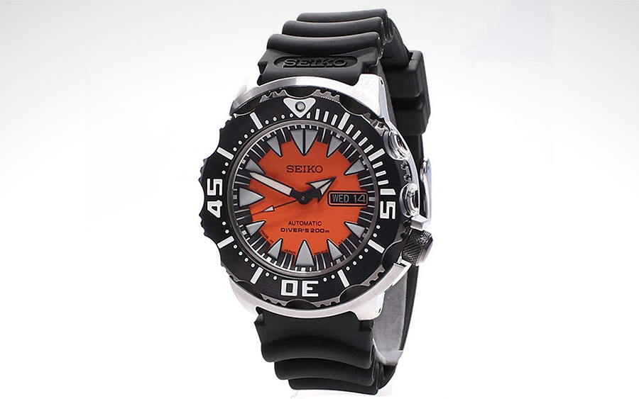 prometheus orange watches store swiss ray mens diver watch dial s made men manta