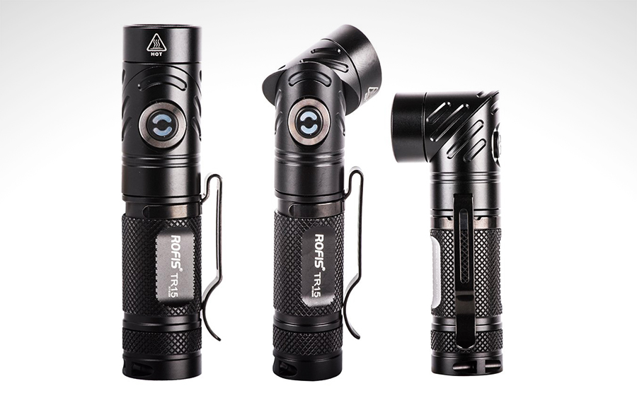 Rofis TR15 Adjustable Head Flashlight