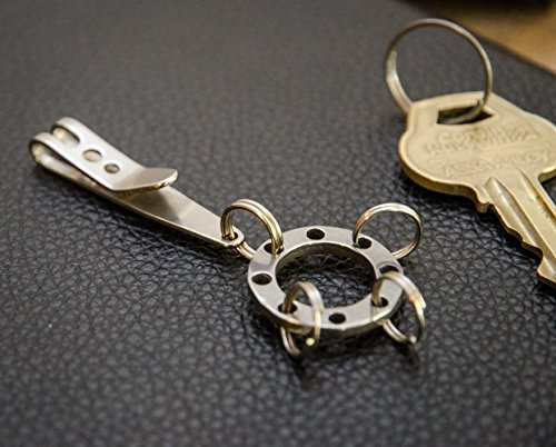 edc tactical suspension keychain clip and multi keyring