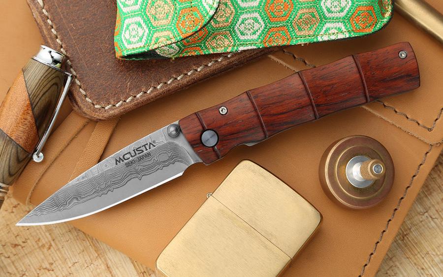 """Mcusta MC-7 """"Take"""" Damascus Knife"""
