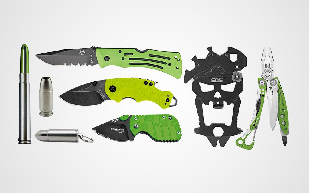 Zombie Green Halloween-Themed EDC Gear