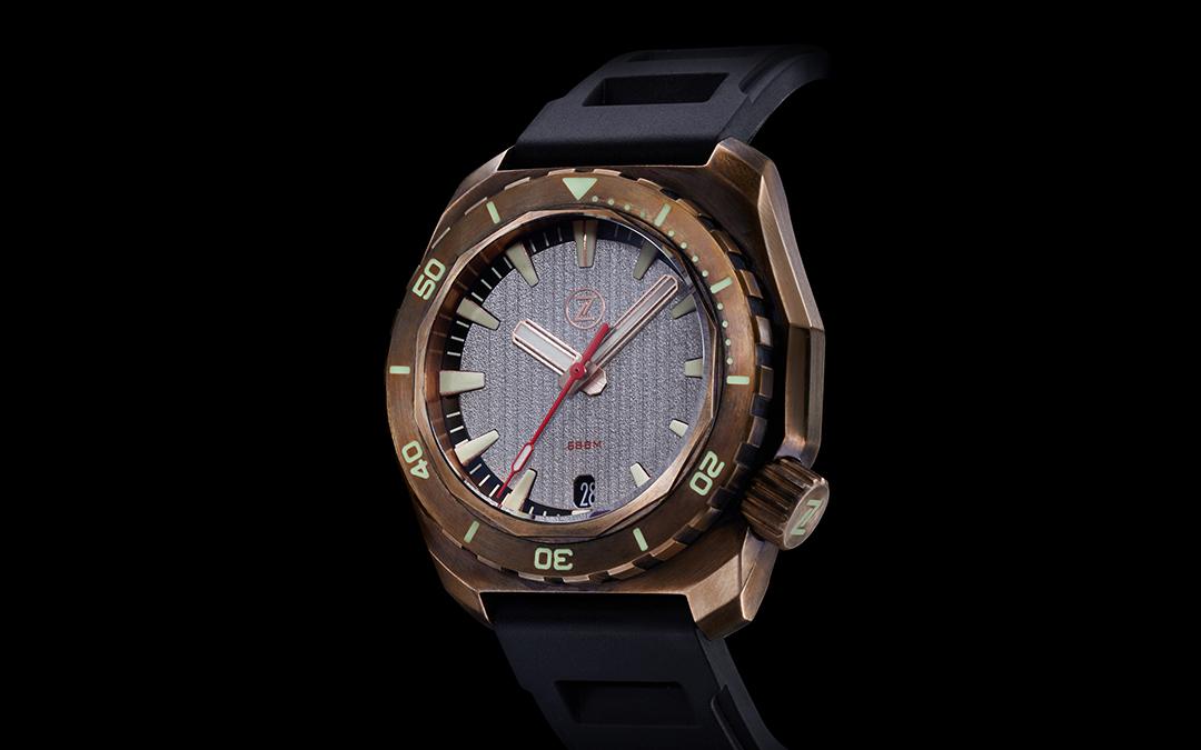 Zelos Hammerhead Submarine Bronze Limited Edition Diver