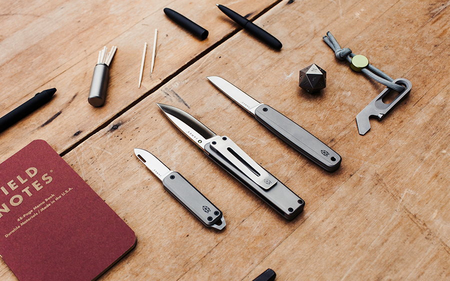 The James Brand Titanium Knife Collection