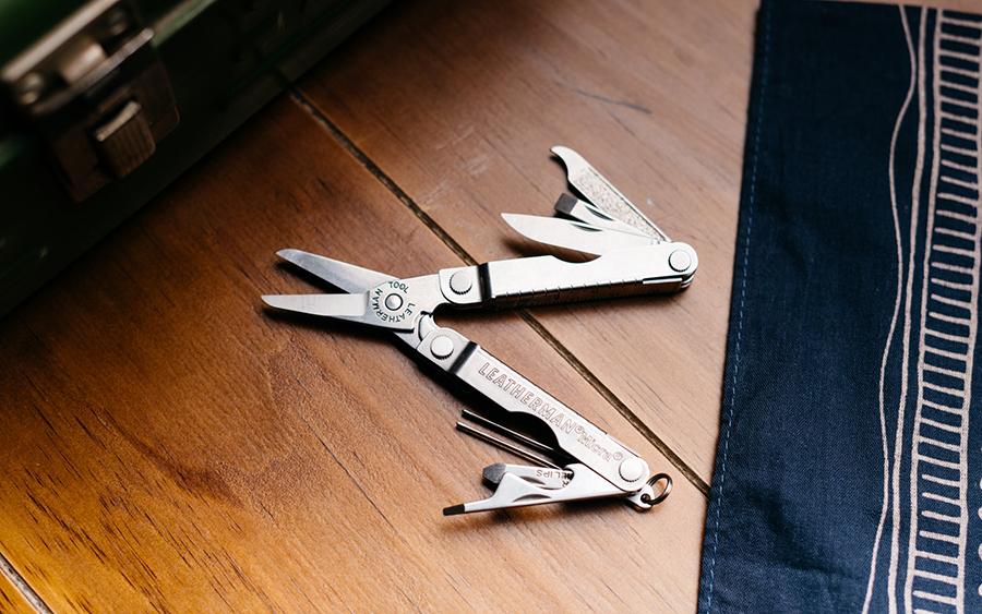 Keychain Size EDC Multi-Tool Scissors Knife Leatherman Micra Tweezers