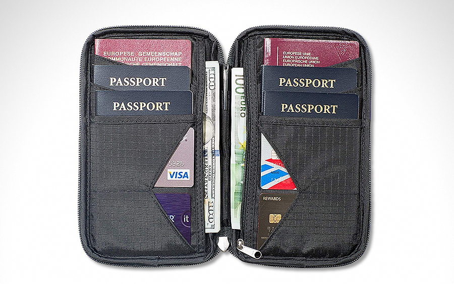 Zero Grid Multiple Passport Holder