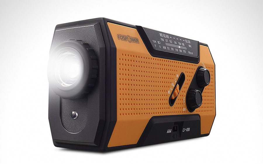 FosPower Emergency Solar Hand Crank Radio