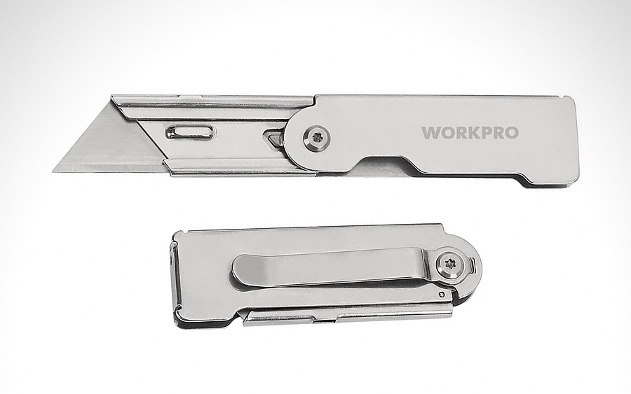 WORKPRO Quick Change Folding Utility Knife
