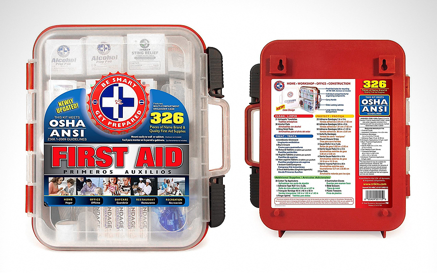 TRI Be Smart Get Prepared 326-Piece First Aid Kit