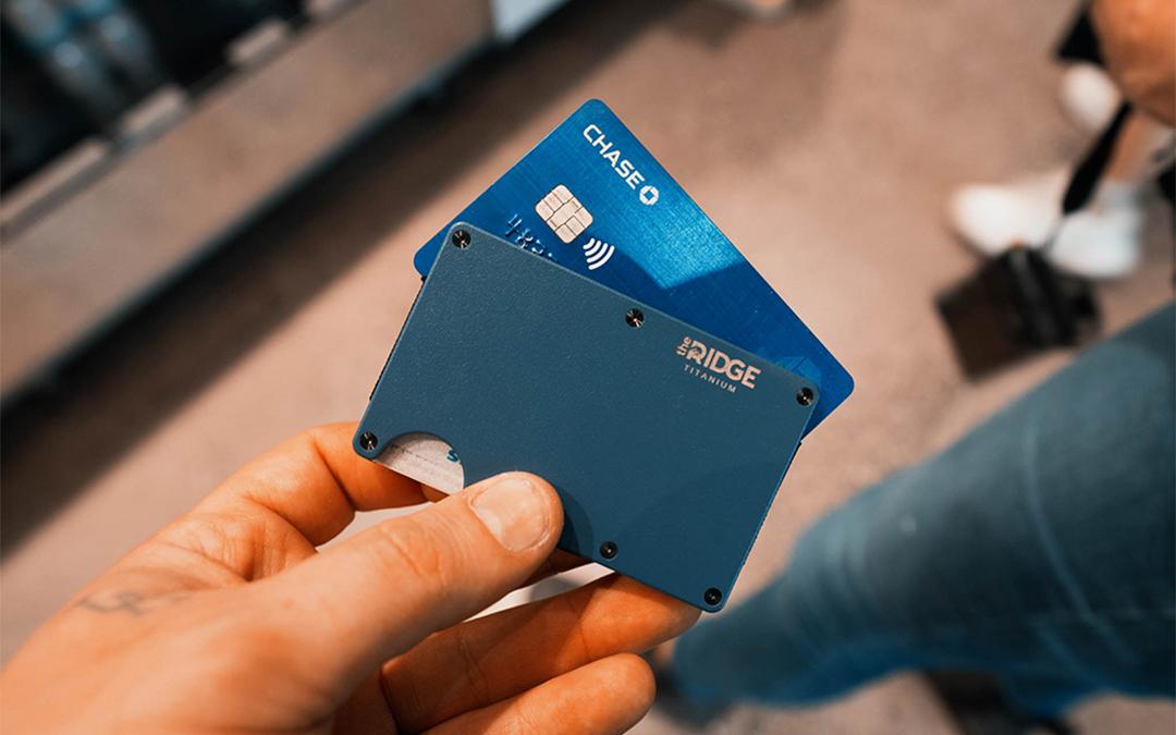 Matte Cobalt Titanium RIDGE Wallet