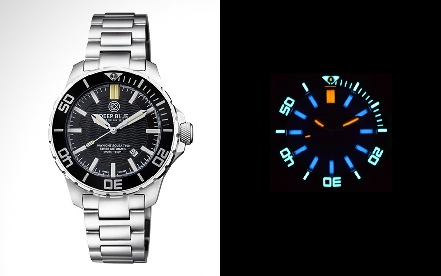Deep Blue Daynight Scuba Tritium T-100