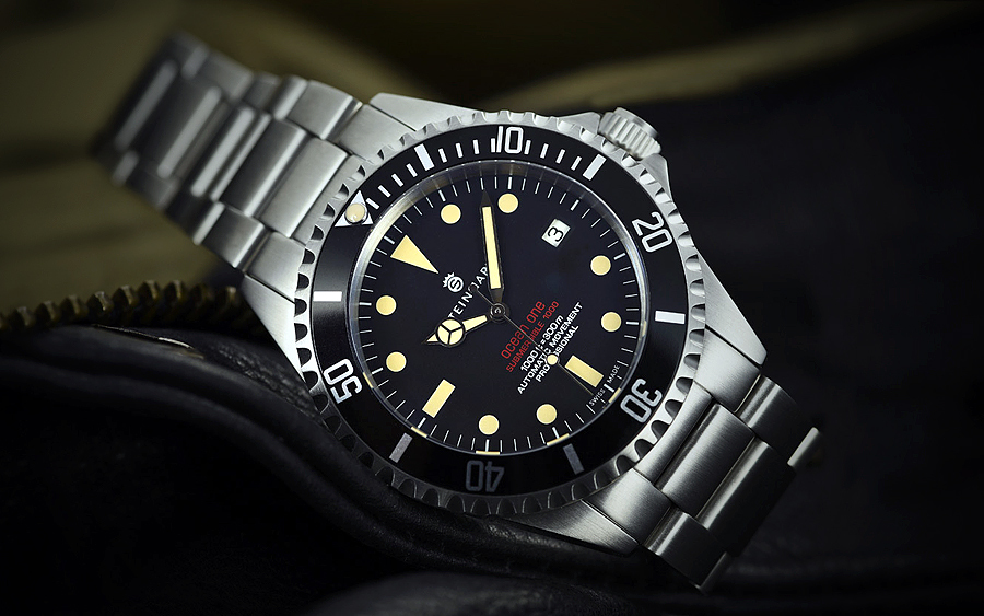 Steinhart Ocean One Vintage Red Dive Watch