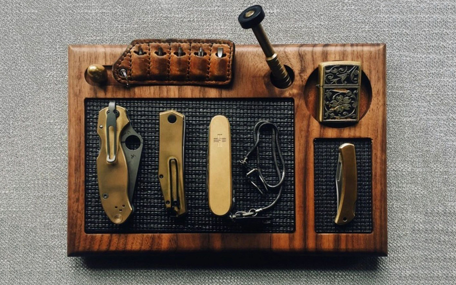 Cur Knives and Tool Maintenance Valet Tray