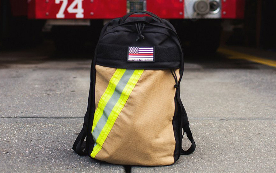 "Recycled Firefighter ""The Chief"" Backpack"