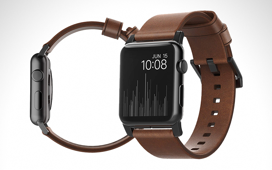 Nomad Modern Horween Leather Apple Watch Strap