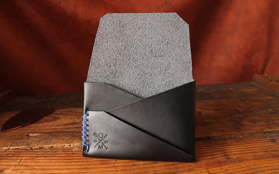 Open Sea Leather Gun Deck Minimalist Wallet