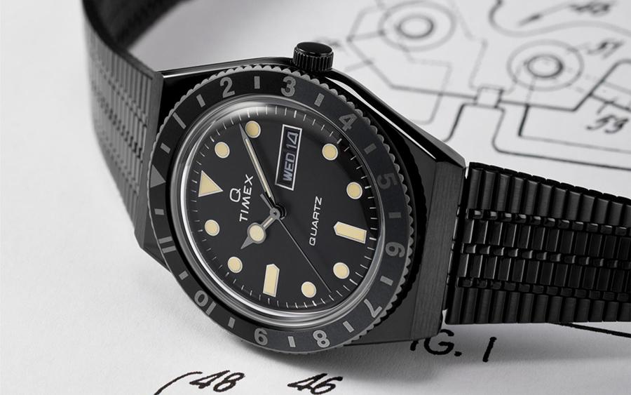 Q Timex Reissue Stainless Steel Black