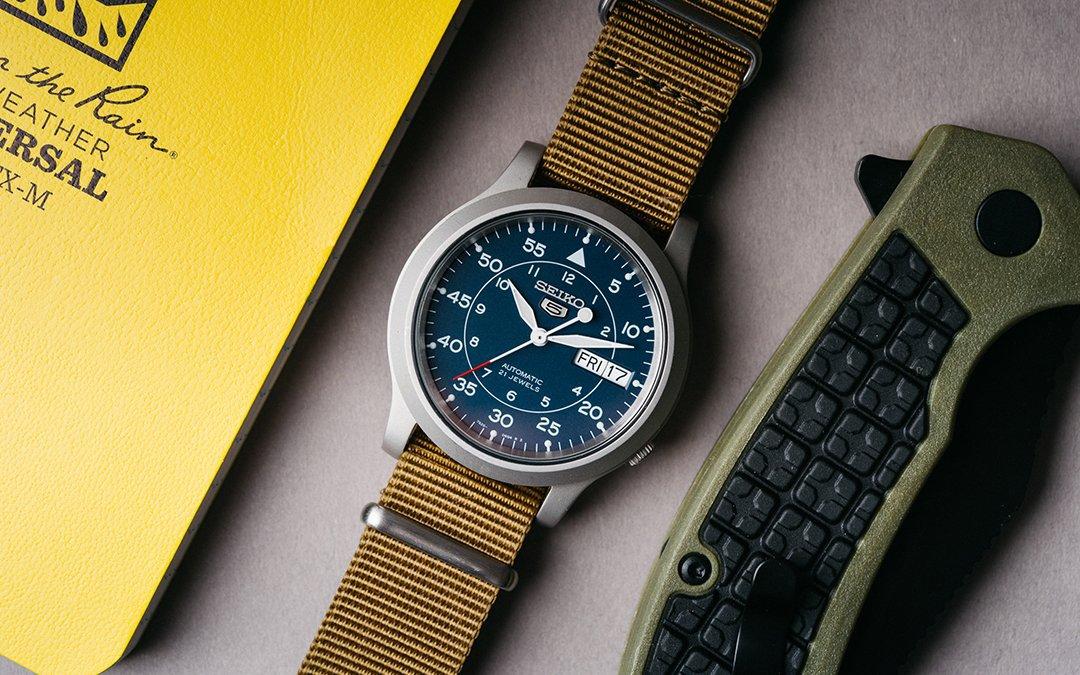 Seiko 5 SNK805 Military Watch