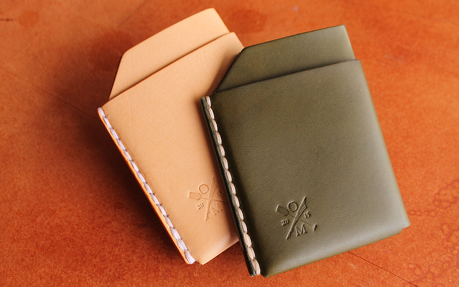 Open Sea Leather Hot Rack Card Holder Wallet
