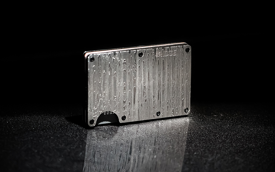Ridge Damascus Card Holder Wallet