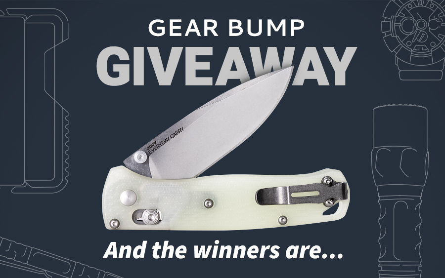 Congratulations to the Winners of the Gear Bump Giveaway!
